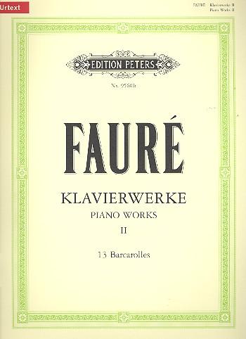 Fauré, Gabriel Urbain - Klavierwerke Band 2 :