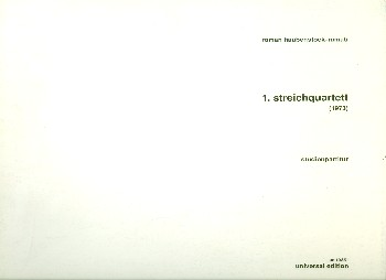 1.STREICHQUARTETT (1973) STUDIENPARTITUR