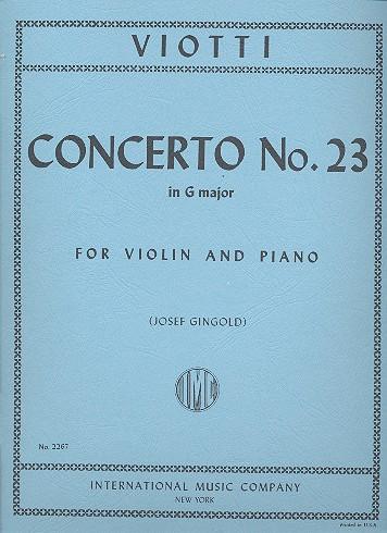 Viotti, Giovanni Battista - Concerto G major no.23 :