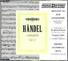 Händel, Georg Friedrich - 4 Sonaten : CD mit der Begleitung