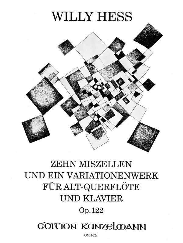 10 Miszellen und ein Variationenwerk opus.122: für Altblockflöte (Altflöte in G) und Klavier