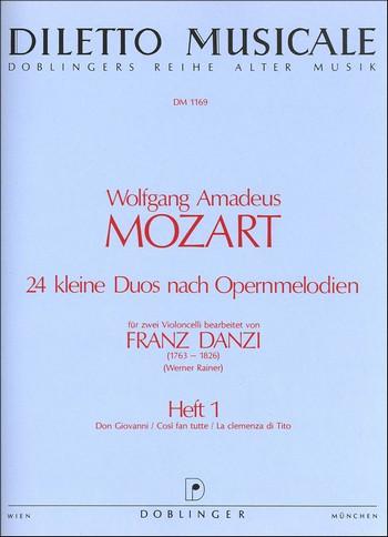 Mozart, Wolfgang Amadeus - 24 kleine Duos nach Opernmelodien
