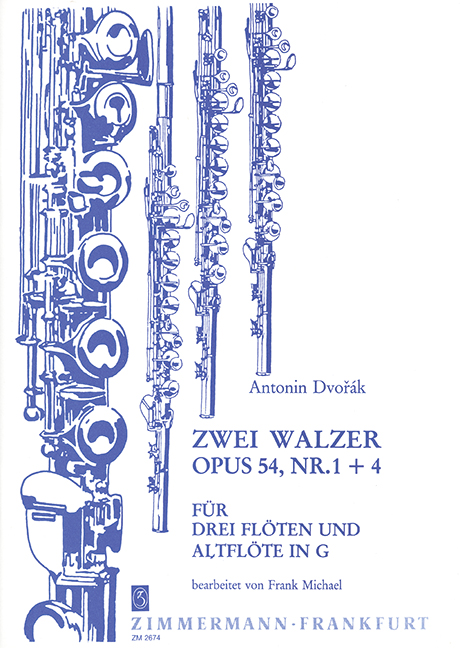 2 Walzer aus op.54: für 3 Flöten und Altflöte in G