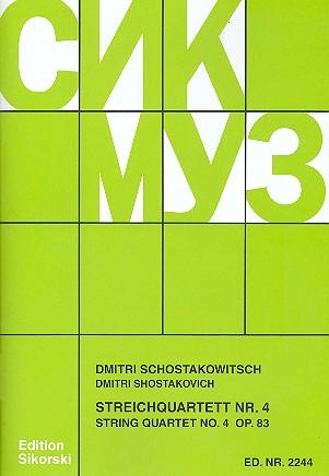 Schostakowitsch, Dimitri - Streichquartett Nr.4 op.83 :