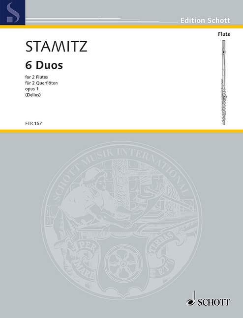 Stamitz, Anton - 6 Duos op.1 : für 2 Flöten