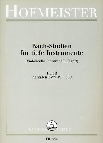 Bach, Johann Sebastian - Bach-Studien für tiefe Instrumente Band 2 :