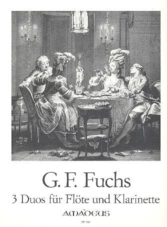 Fuchs, Georg Friedrich - 3 Duos op.19 : für Flöte und