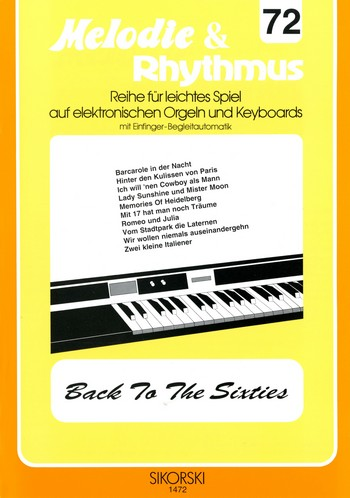 Back to the Sixties: für E-Orgel / Keyboard