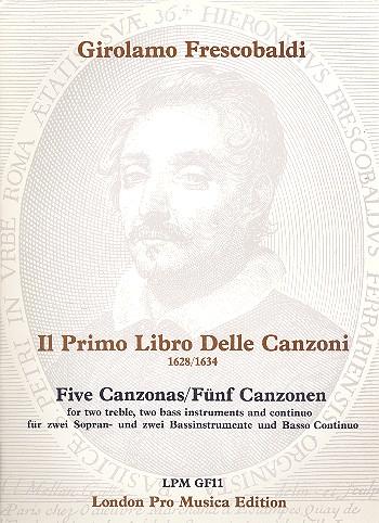 Frescobaldi, Girolamo Alessandro - 5 Canzonen : für 2 Sopran- und