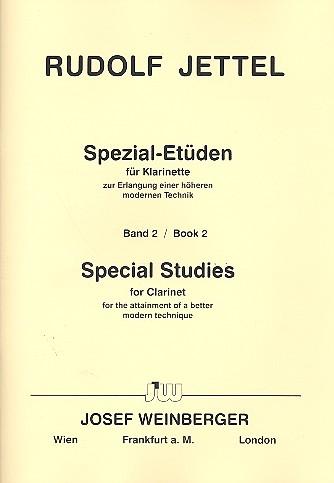 Jettel, Rudolf - Spezial-Etüden Band 2 : für Klarinette
