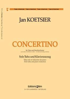 Concertino opus.77 für Tuba und Streichorchester: für Tuba und Klavier