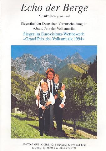 Echo der Berge: Einzelausgabe