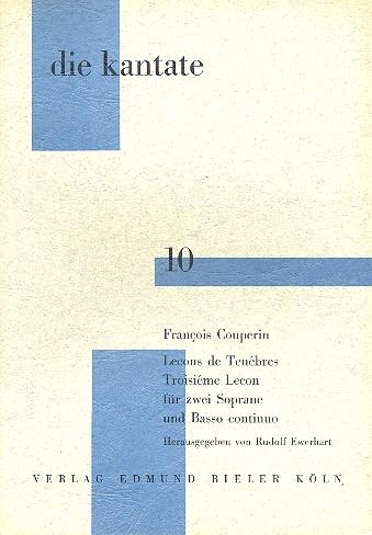Lecons de ténèbres: troisième lecon für 2 Soprane und Bc