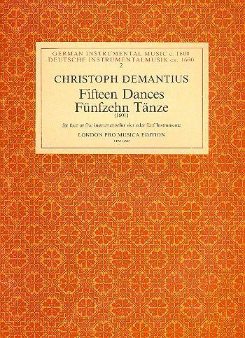 15 Tänze: für 4-5 Instrumente Partitur und Stimmen