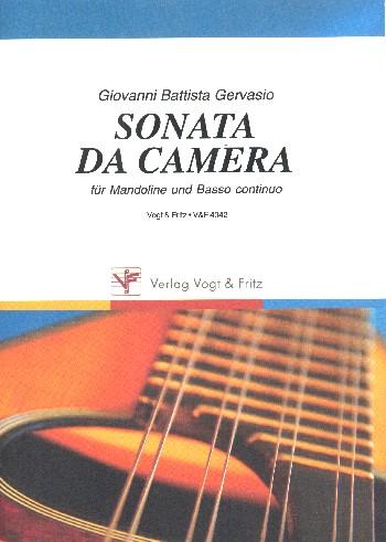 Sonata da camera: für Mandoline und Bc