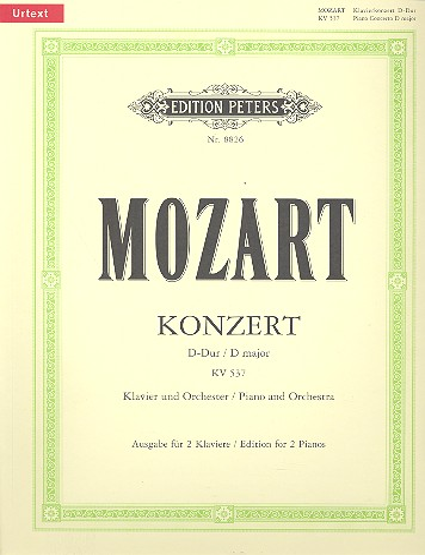 Mozart, Wolfgang Amadeus - Konzert D-Dur KV537 für