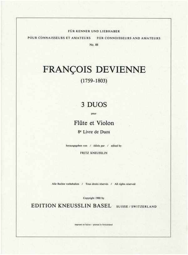 3 Duos: pour flûte et violon