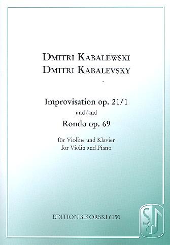 Kabalewski, Dmitri - Improvisation op.21,1 und Rondo op.69 :