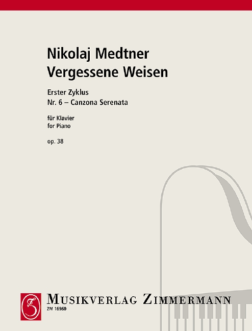 Medtner, Nikolai Karlowitsch - Canzona serenata op.38,6 :