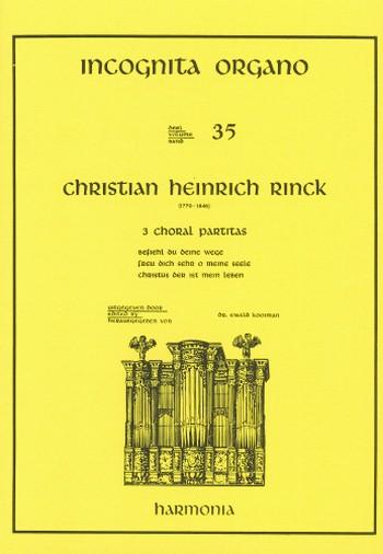 3 Choralpartiten: für Orgel
