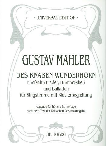 15 Lieder, Humoresken und Balladen aus Des Knaben Wunderhorn: für