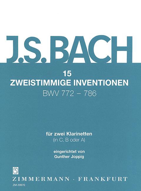 Bach, Johann Sebastian - 15 Zweistimmige Inventionen : fuer