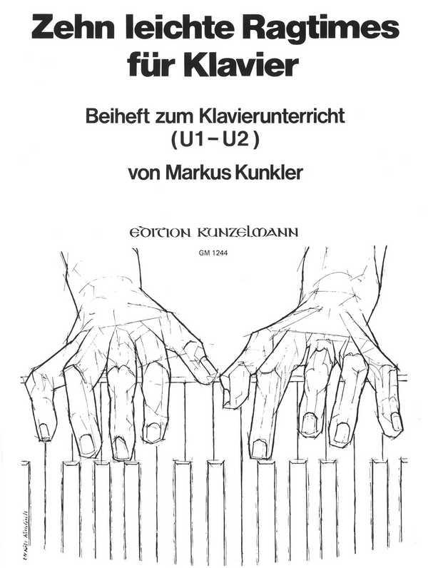 10 leichte Ragtimes: für Klavier Beiheft zum Klavierunterricht