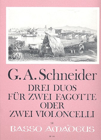 3 Duos: für 2 Fagotte (2 Violoncelli)