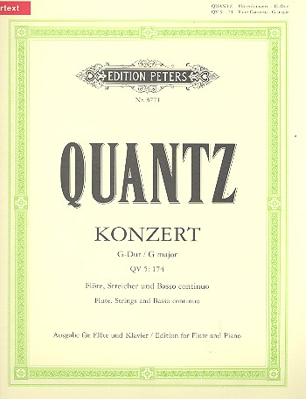 Konzert G-Dur QV5,174 für Flöte, Streicher und Bc: für Flöte