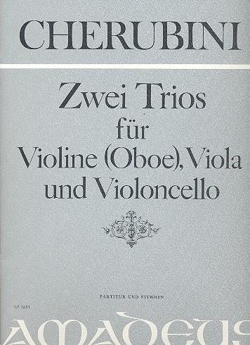 2 Trios: für Violine (Oboe), Viola und Violoncello