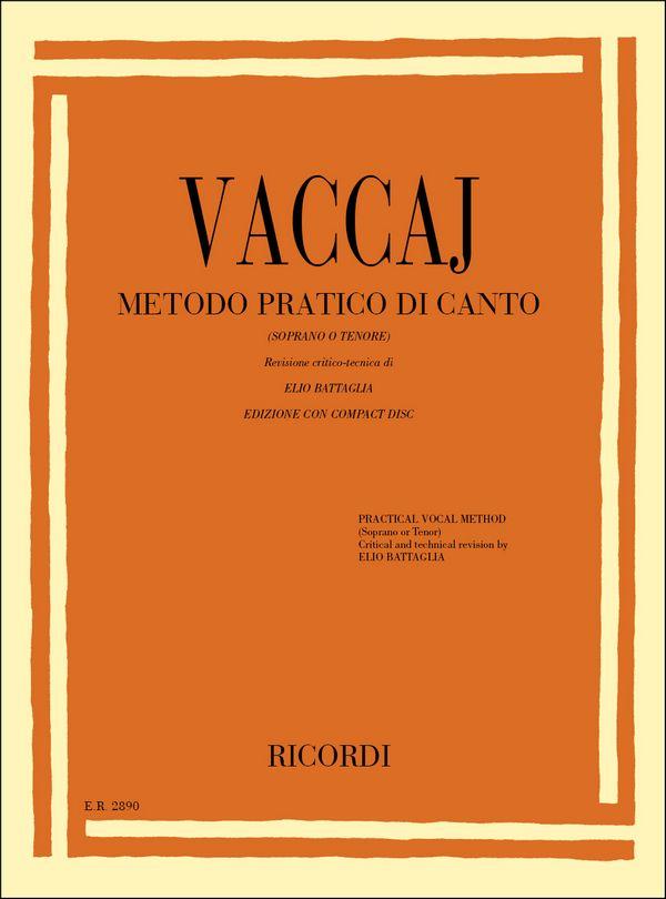 Vaccai, Nicola - Metodo pratico di canto (+CD) : per