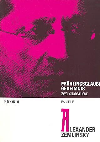 2 Gedichte: für Chor und Streichorchester, Partitur