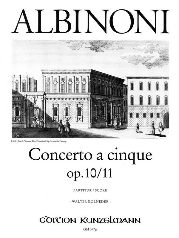Concerto à cinque c-Moll opus.10,11 Partitur