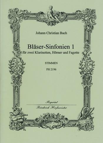 Bach, Johann Christian - Bläser-Sinfonien Band 1 : für 2 Klarinetten,