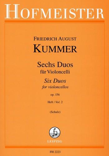 Kummer, Friedrich August d. J. - 6 Duos op.156 Band 2 : für