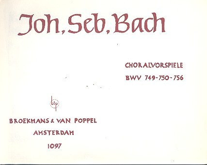3 Choralvorspiele: für Orgel