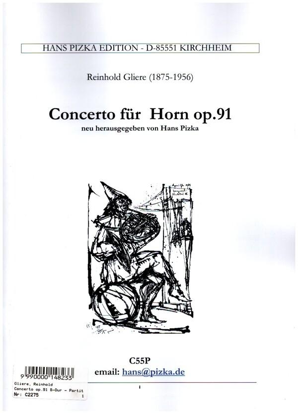 Konzert B-Dur op.91: für Horn und Orchester