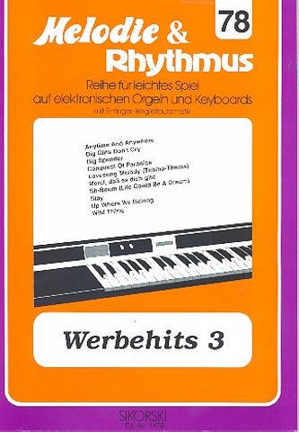 Werbehits 3: für E-Orgel / Keyboard