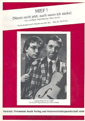 Mief: Einzelausgabe Gesang und Klavier