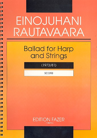 Ballad for harp and strings (1973/81) Partitur