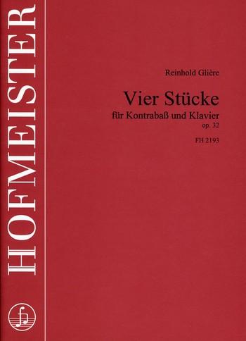 4 Stücke opus.32: für Kontrabaß und Klavier