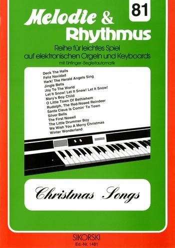 Christmas Songs: für E-Orgel / Keyboard