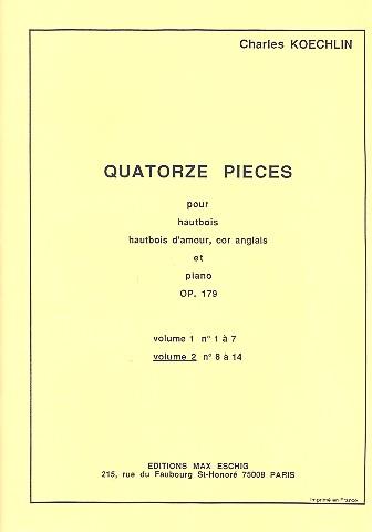 14 pièces vol.2 (nos.8-14): pour hautbois, hautbois d\