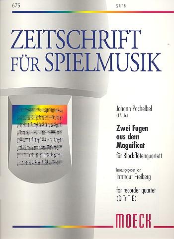 2 Fugen aus dem Magnificat: für 4 Blockflöten (SATB)