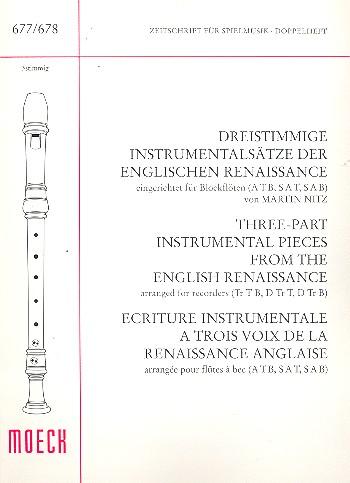 Dreistimmige Instrumentalsätze der englischen Renaissance: