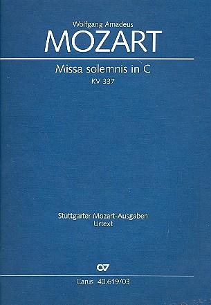 Mozart, Wolfgang Amadeus - Missa solemnis C-Dur KV337 : für