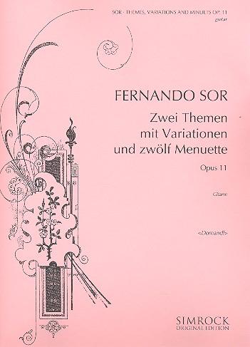 2 Themen mit Variationen und 12 Menuette opus.11: für Gitarre