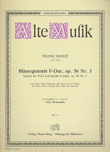 Danzi, Franz - Bläserquintett F-Dur op.56,3