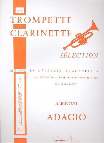 Adagio: pour trompette (clarinette) avec ou sans piano