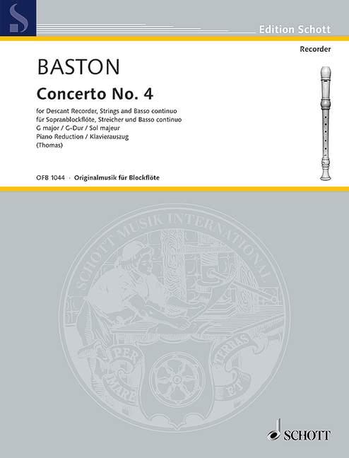 Baston, John - Konzert G-Dur Nr.4 für